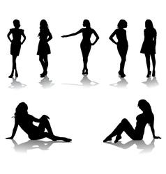 beautiful girls vector image vector image
