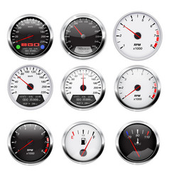 car dashboard gauges set collection of vector image vector image