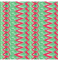 Contrast Aztec geometric pattern vector image