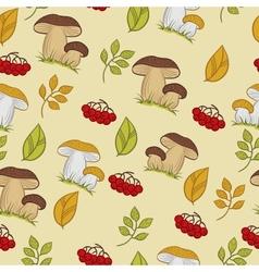 seamless texture mushrooms vector image vector image
