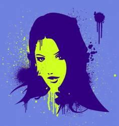 stencil gal vector image vector image