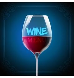 Wine menu card design template Wine list template vector image
