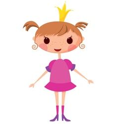 cartoon princess vector image vector image