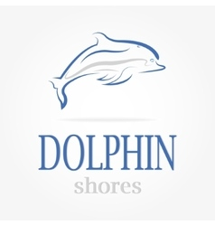 dolphin logotype Dolphin shores vector image vector image