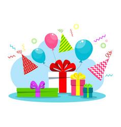 happy birthday card white vector image
