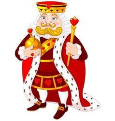 Heart king vector image
