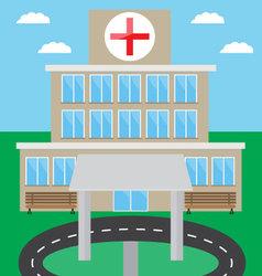 Hospital building design flat vector image vector image