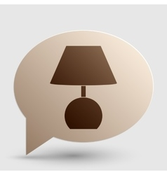 Lamp sign Brown gradient icon on vector image vector image