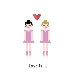 Lesbian couple in love vector image vector image