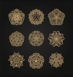 set of thai art element graphic thai design eps10 vector image vector image