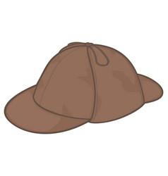 sherlock holmes hat vector image