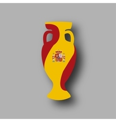 sport competition cup Spain participant vector image