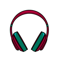 fuchsia headphones vector image