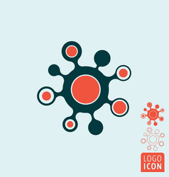 molecule icon isolated vector image
