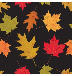 Tiled Colorful Leaves vector image vector image