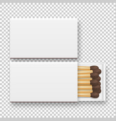 3d realistic closed and opened blank box of vector image