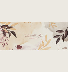Abstract art background with watercolor autumn vector