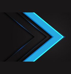 abstract blue arrow direction on dark blank space vector image