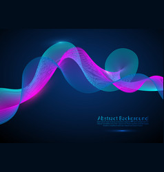 Abstract digital wave particles futuristic hud vector
