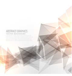 Abstract gray geometric triangles shape with vector