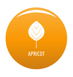apricot leaf icon orange vector image