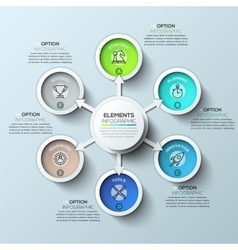 Arrow circle infographics template vector image