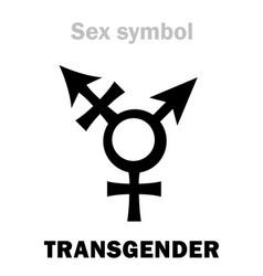 Astrology transgender intersex vector