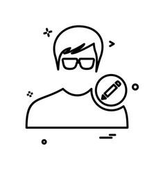 avatar male icon design vector image
