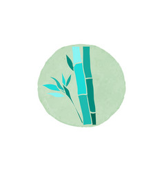 Bamboo logo design vector