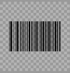 Barcode isolated on transparent background vector