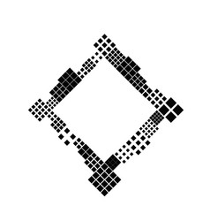 Black and white modern diagonal square blank vector
