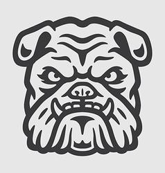 Bulldog Head Logo Mascot Emblem vector