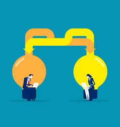 Business team idea exchange concept business vector
