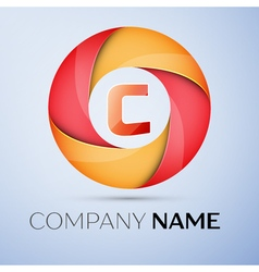 C letter colorful logo in the circle template for vector image