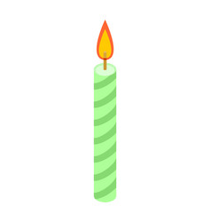 candle for birthday cake accessory holiday pie vector image
