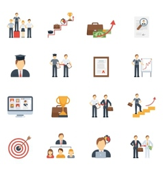 Career Icons Flat Set vector