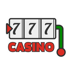 Casino poker jackpot lucky seven template vector