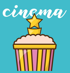 Cinema trophy over blue background design vector