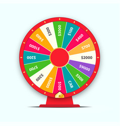 colorful wheel fortune vector image