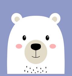 cute arctic polar bear isolated vector image