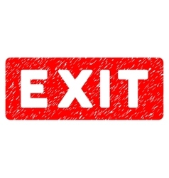 Exit Label Grainy Texture Icon vector
