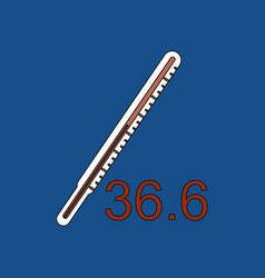 Flat icon design collection body thermometer vector