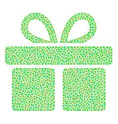 Gift mosaic of dots vector