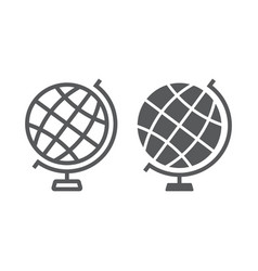 globe line and glyph icon earth and world vector image