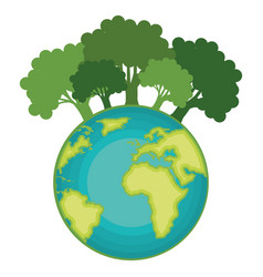 go green world planet vector image