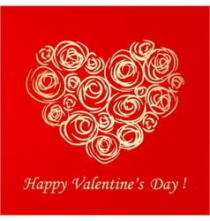 gold valentine vector image