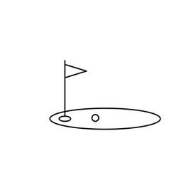 golf field icon vector image