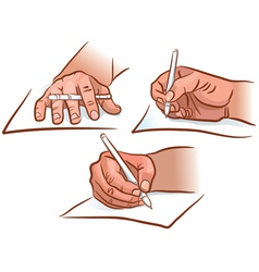 Hand writing vector image