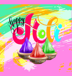 happy holi celebration design to indian spring vector image