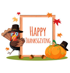 happy thanksgiving card concept vector image